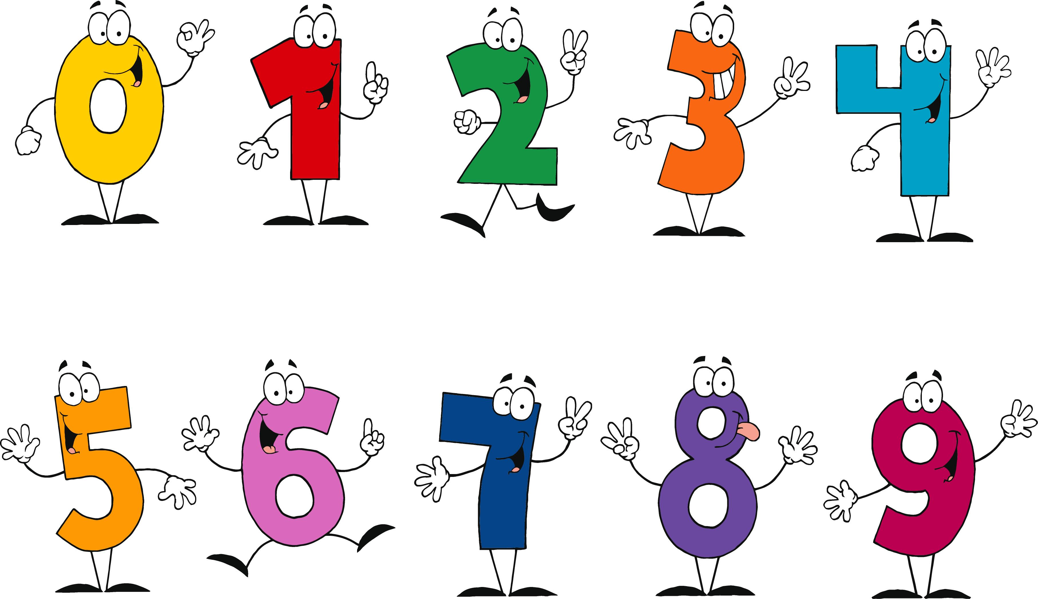 Numbers 1 to 10 clipart.