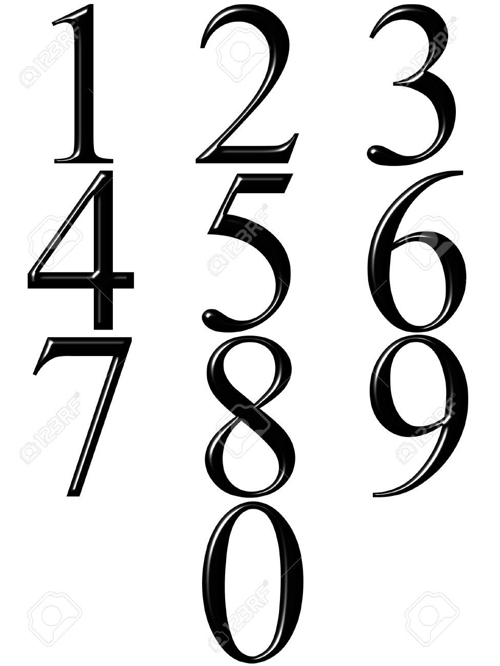 Numbers clipart black and white 4 » Clipart Portal.