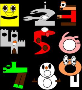 Cartoon Numbers Clip Art at Clker.com.