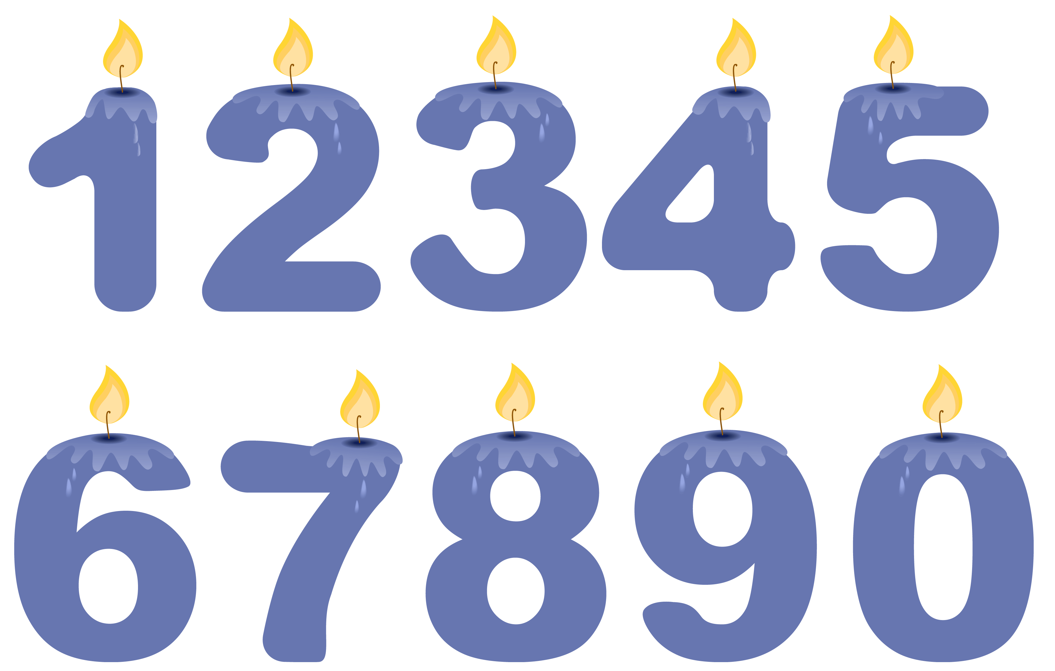 Numbers Clipart Png Clipground
