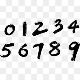 Writing A Pen, Handwritten Numbers, Arab #37776.