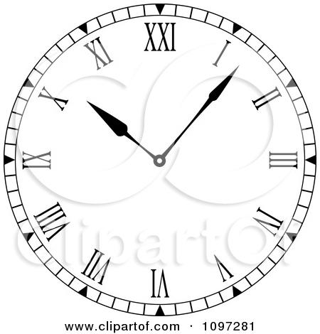 Clipart 3d Roman Numeral Wall Clock.
