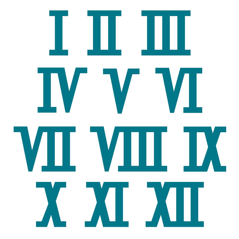 10 Roman Numerals Clipart.