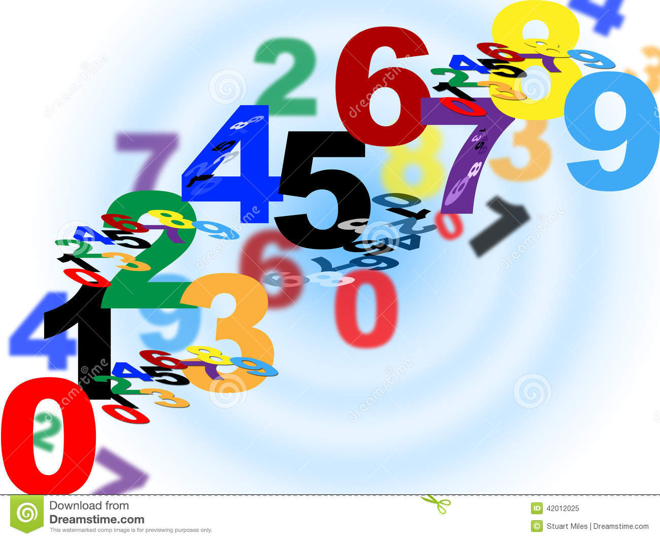 Maths Counting Means Numerical Number And Template Stock.