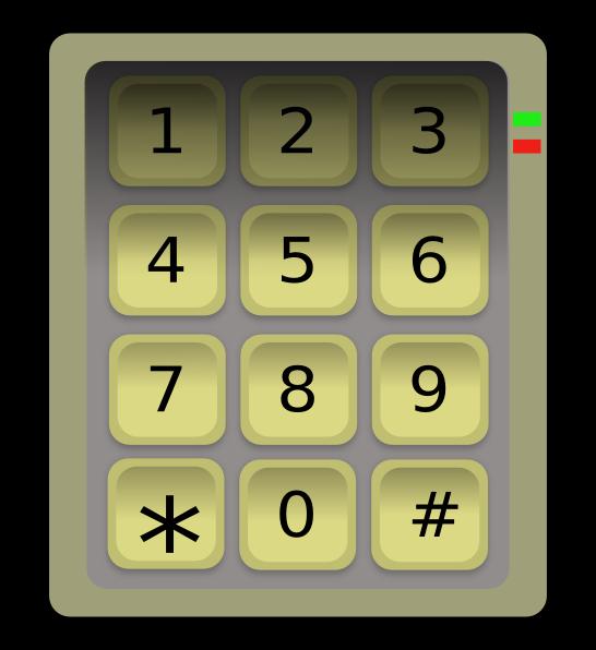 Numeric Keypad (clavier) Clip Art at Clker.com.