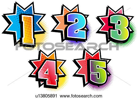 Clipart of Numerical numbers u13805891.