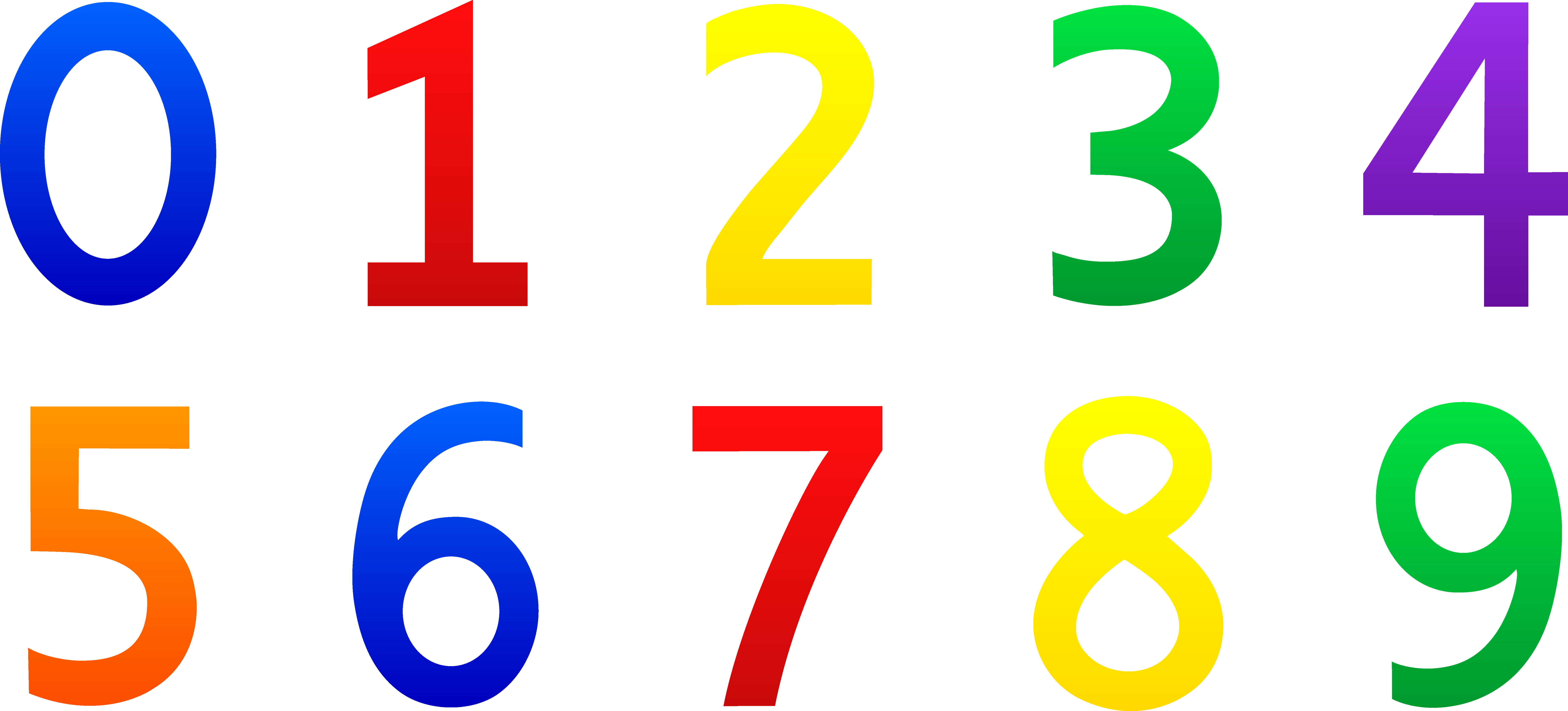Numerical Numbers Clipart.