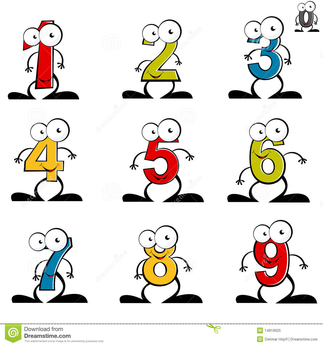 Numerical Stock Illustrations.