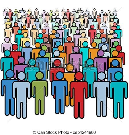 Thousands of people clipart.