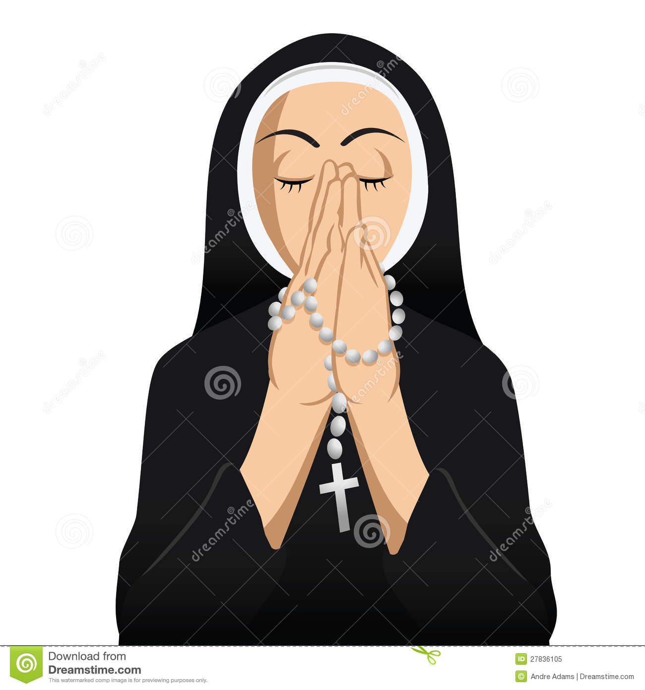 Nun Stock Illustrations.