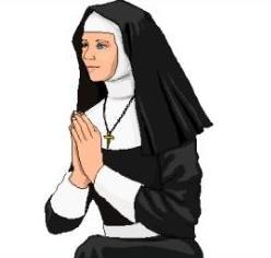 Catholic Nun Clipart.