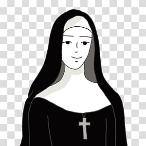 Nun transparent background PNG cliparts free download.