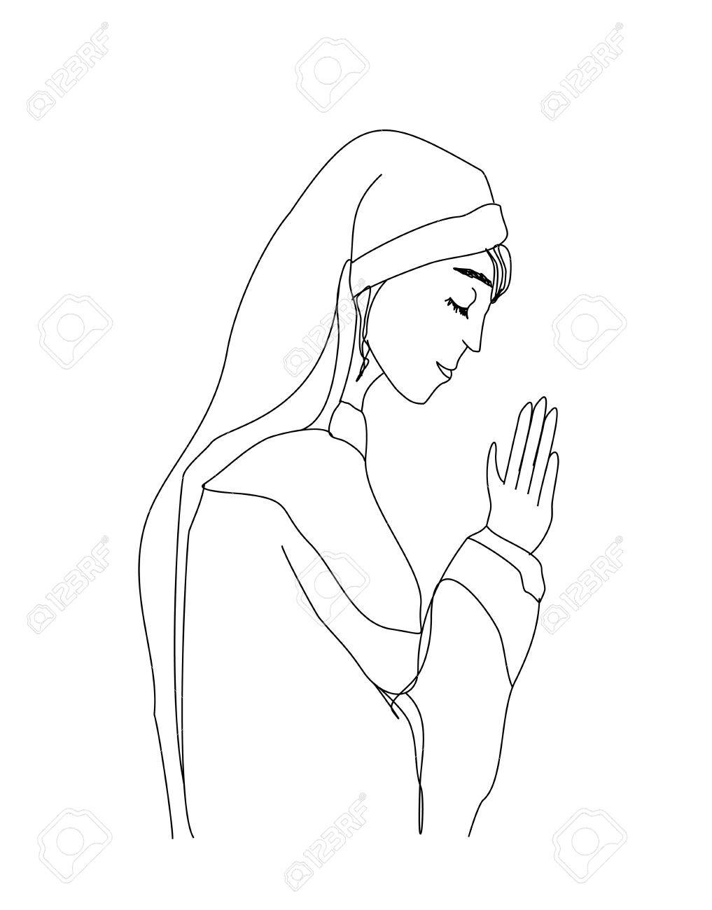 Nun clipart black and white 9 » Clipart Station.