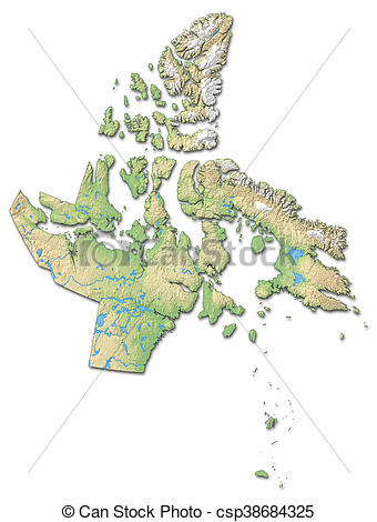 Clip Art of Relief map.