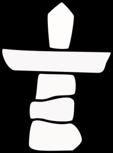 Nunavut Canada Inukshuk No Colour Clip Art at Clker.com.