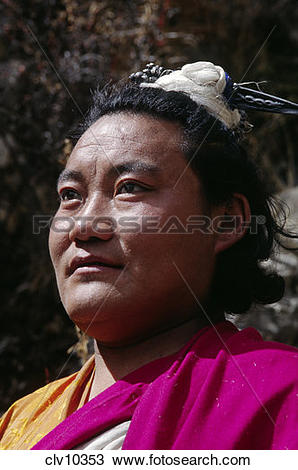 Stock Photo of LUNDUP DORJE a BUDDHIST YOGI has been meditating in.