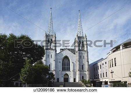Stock Images of Nunoike Catholic church, Nagoya city, Aichi.