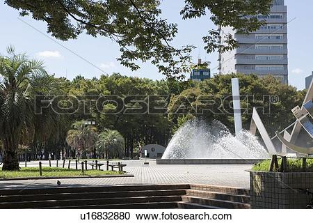 Stock Photography of Shirakawa Park, Nagoya city, Aichi Prefecture.