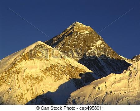 Stock Photography of World's heighest mountain, Mt Everest (8850m.