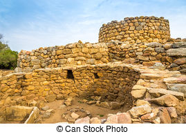 Stock Photo of Nuraghe Prisgiona near Arzachena.