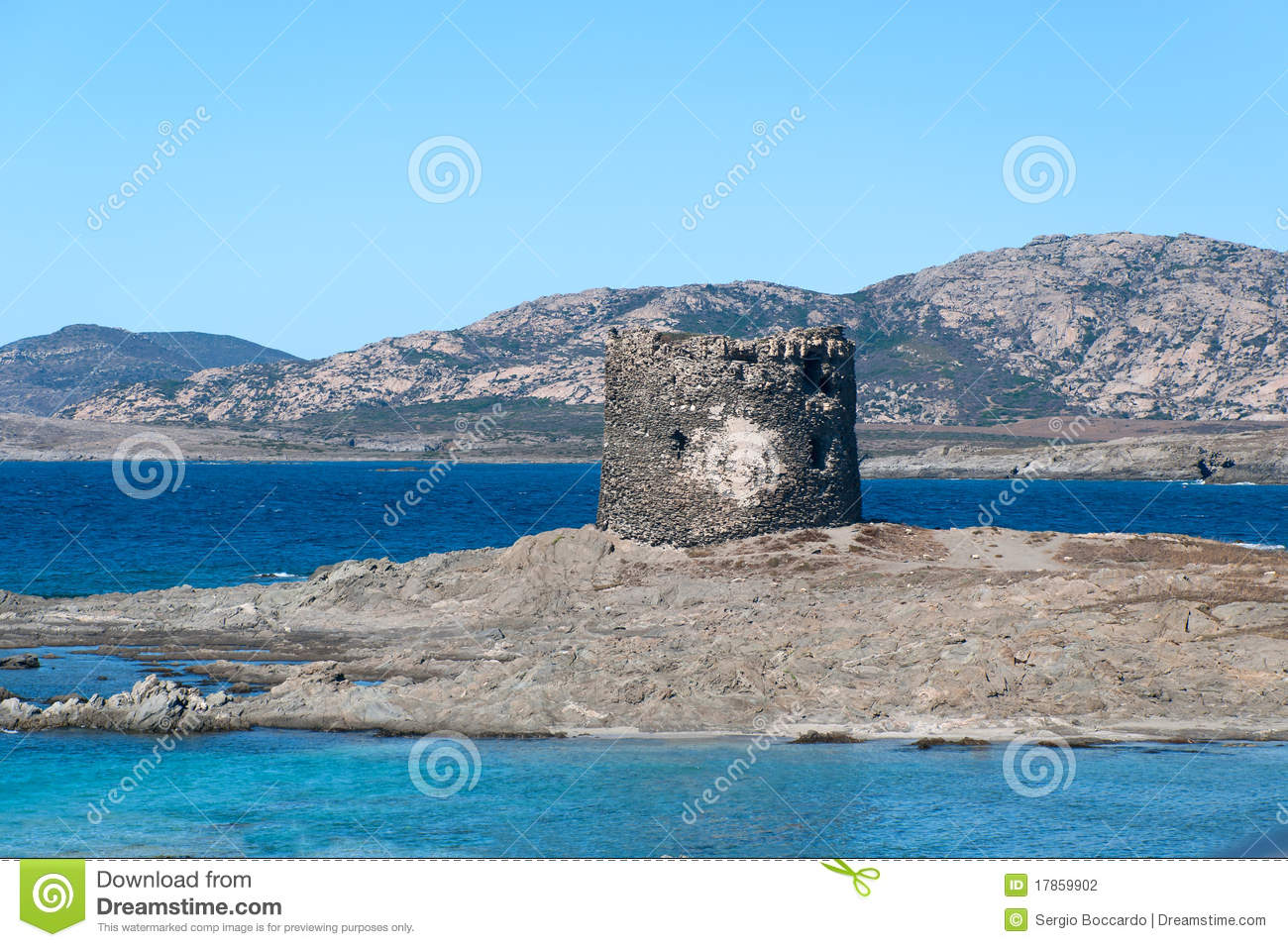 Nuraghe In Sardinia Stintino Stock Photography.