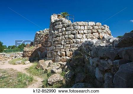 Stock Photography of Nuraghe de Palmavera, near Fertilia. Sassari.