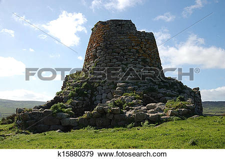 Stock Photograph of Nuraghe Sardinia k15880379.