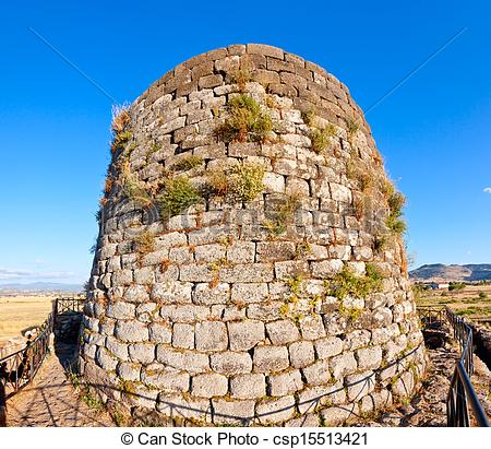 Stock Photo of Nuraghe Santu Antine central tower csp15513421.