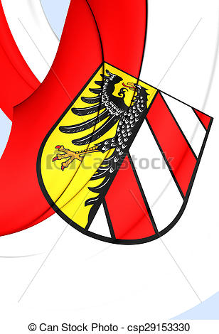 Drawings of Flag of Nuremberg City, Germany..