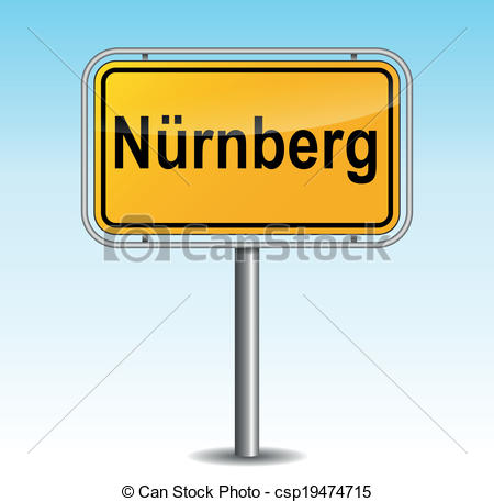 Vector Clip Art of Vector nuremberg signpost.