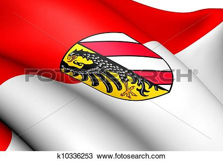 Drawing of Flag of Nuremberg, Germany. k10336253.