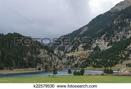 Stock Photography of Nuria Valley.