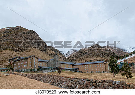 Stock Images of Sanctuary of the Virgin of Nuria k13070526.