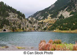 Stock Image of Valley of nuria (Spain).
