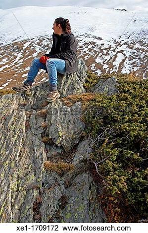 "Stock Photo of ""young, Vall de Nuria, Catalonia, Spain"" xe1."