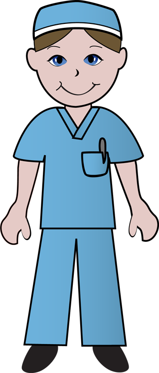 Male Nurse Clipart.