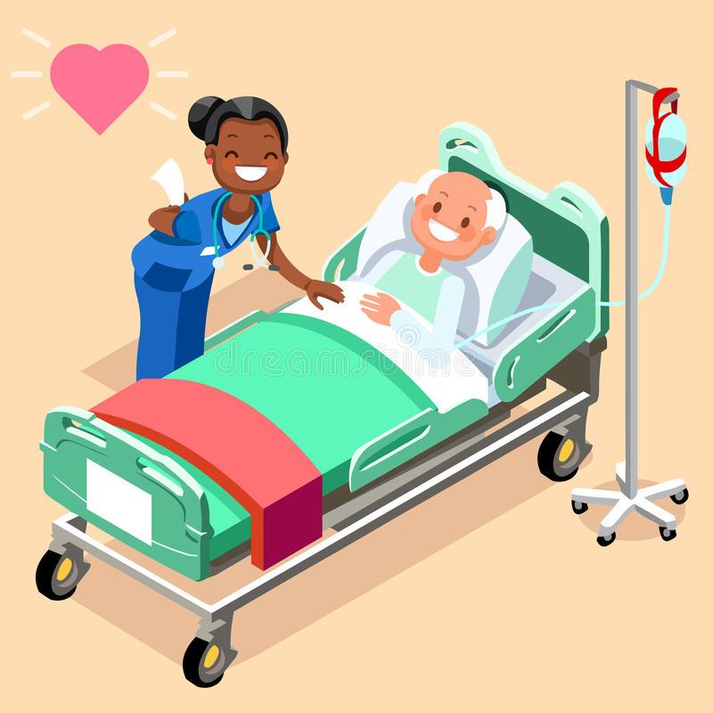 Nurse Patient Stock Illustrations.