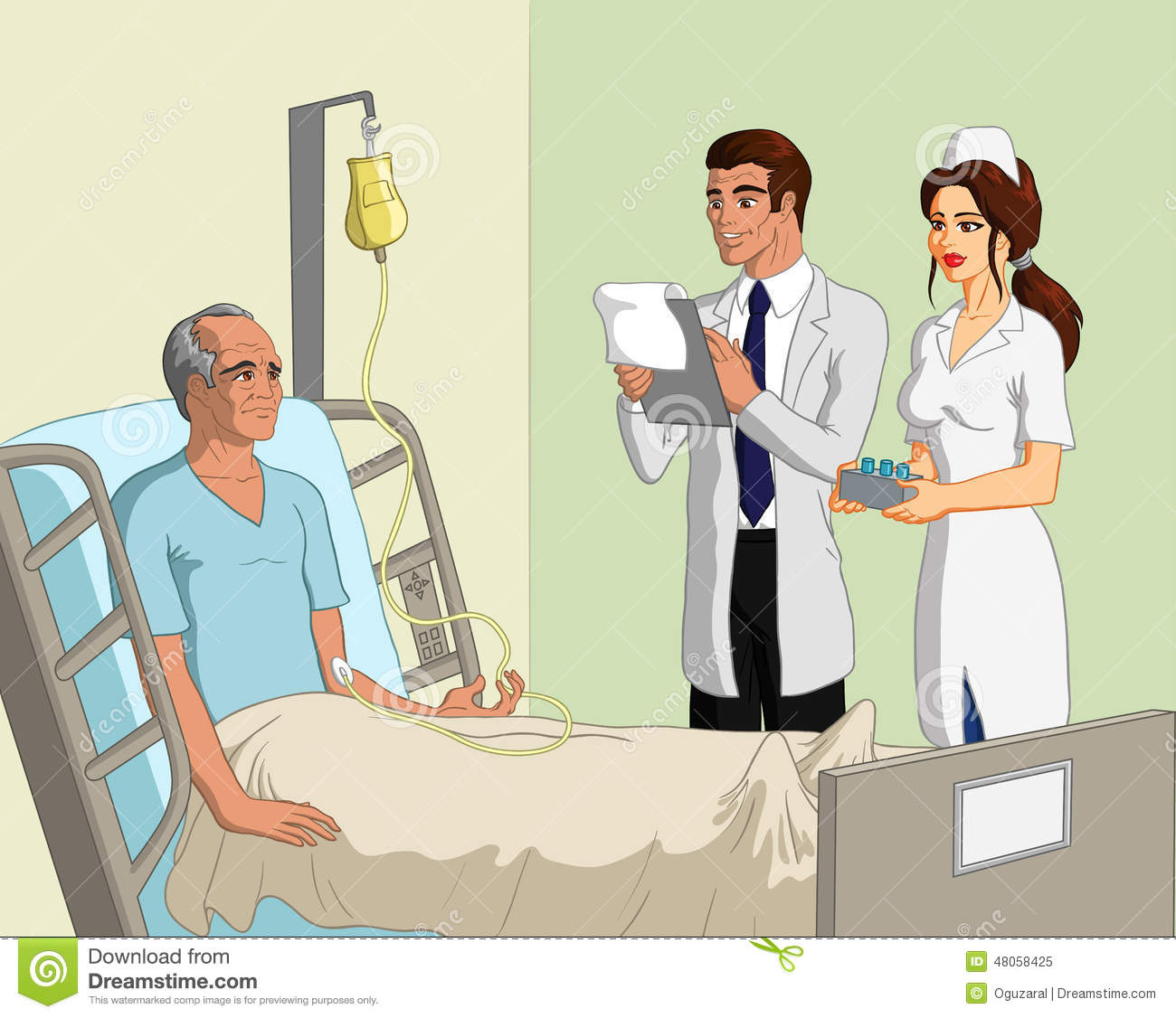 Nurse And Patient Talking Clipart.