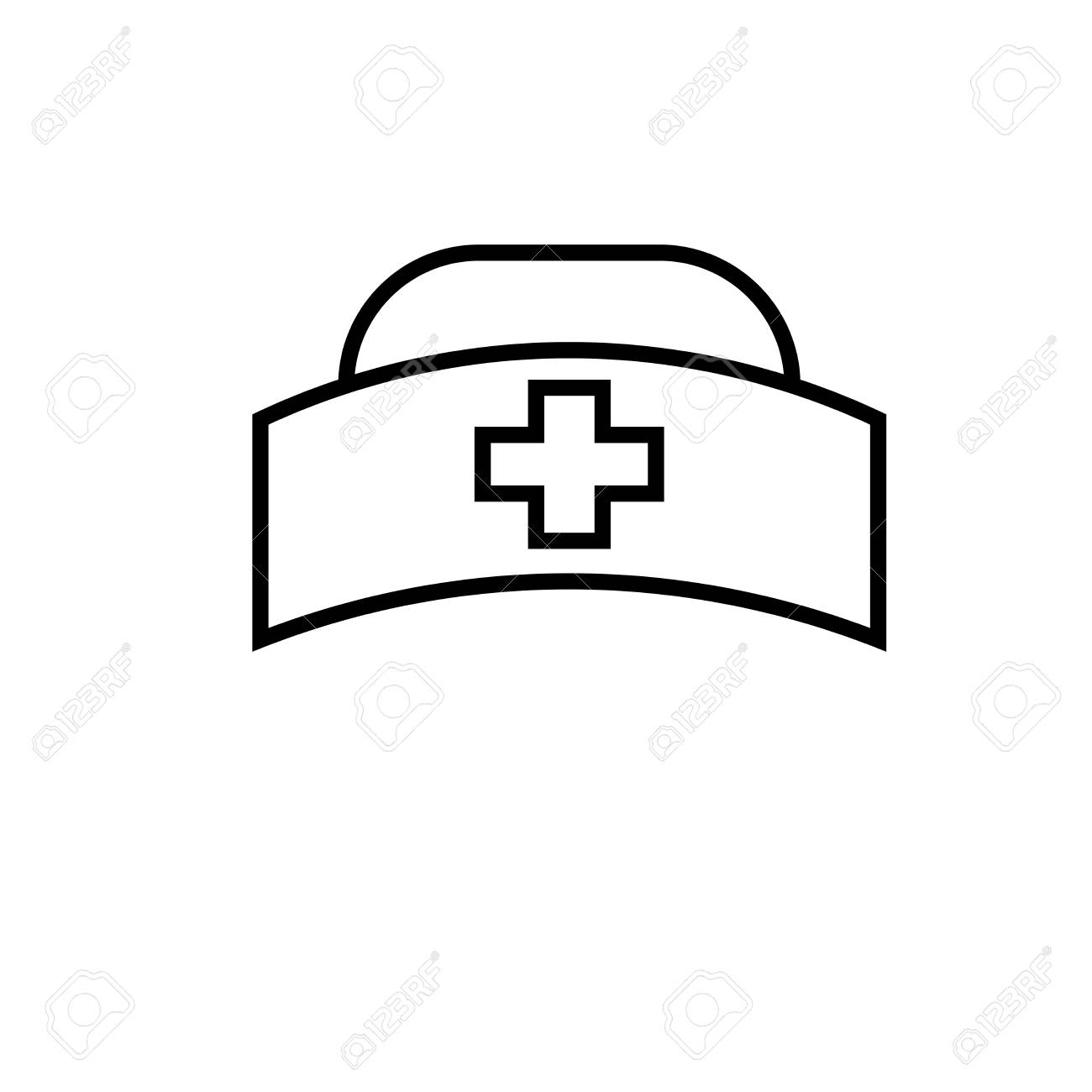nurse hat icon.