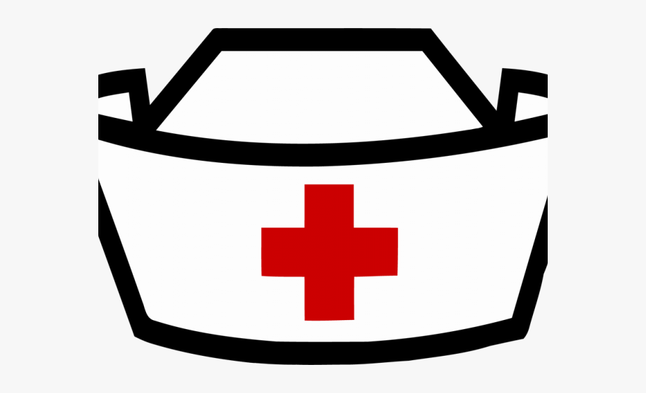Graphic Black And White Stock Nurses Hat Clipart.