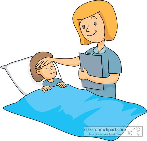 Caring Nurse Clipart.
