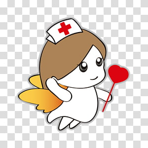 Cartoon Nurse transparent background PNG cliparts free.