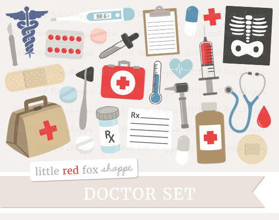 Medical Clipart, Doctor Clip Art, First Aid Kit Clipart.