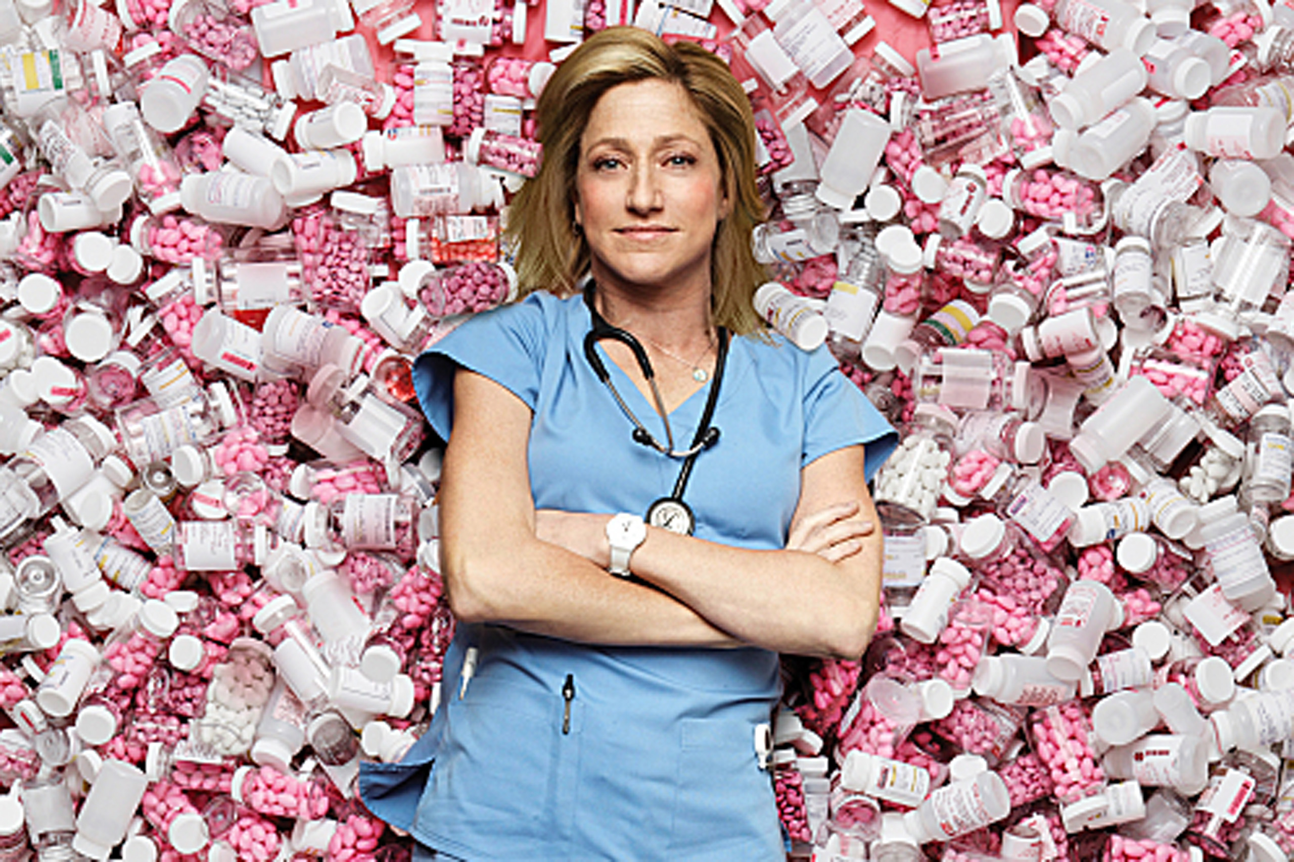 Edie Falco on Nurse Jackie's Tragic Relapse.