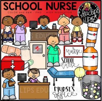 School Nurse Clip Art Set {Educlips Clipart}.