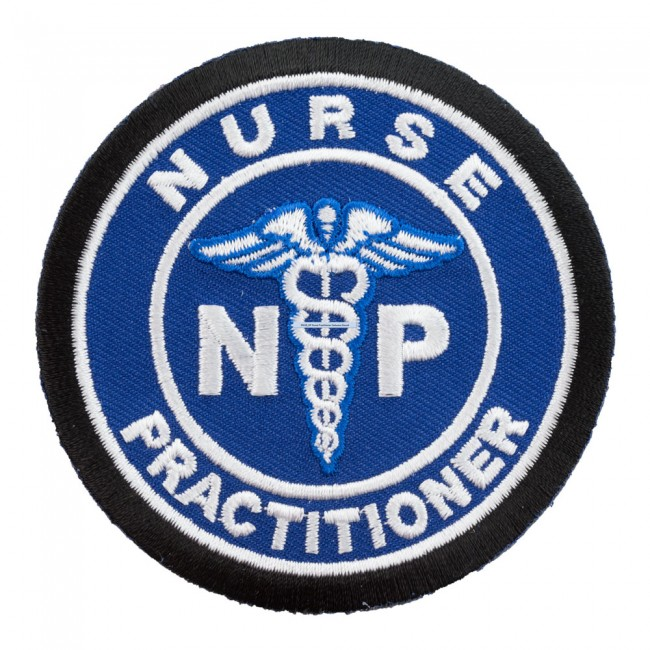 Nurse Practitioner Medical Symbol Blue Patch, Medical Patches.