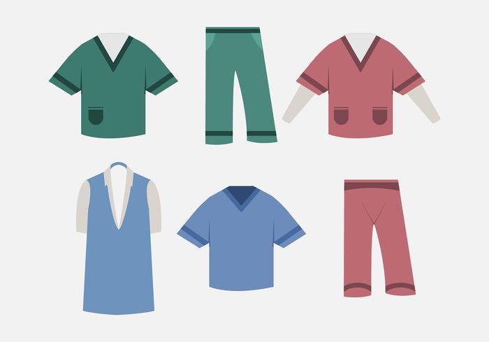 Vector nurse scrubs.
