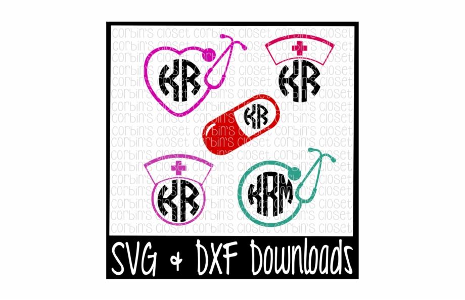 Free Nurse Svg Nurse Monogram Svg Cut File.
