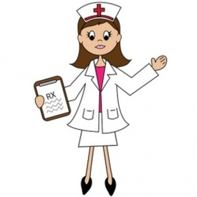 Nurse Teaching Patient Clipart.