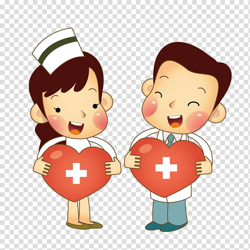 Nurse and doctor illustration, Nurse Physician Cartoon.